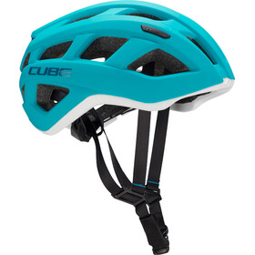 Cube Roadrace Fietshelm wit/turquoise